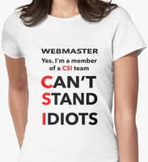 WEBMASTER Women's Fitted T-Shirt