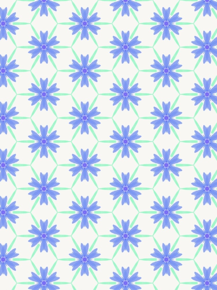 Stylised cornflower by bettyretro