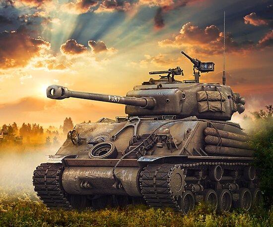 Quot Fury M4 Sherman Battle Tank Quot Poster By Nolamaddog