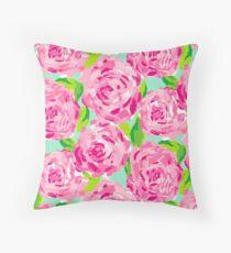 Rose Print Throw Pillow