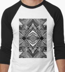 lines and angles Men's Baseball ¾ T-Shirt