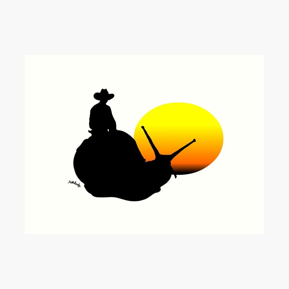 snail rider Art Print