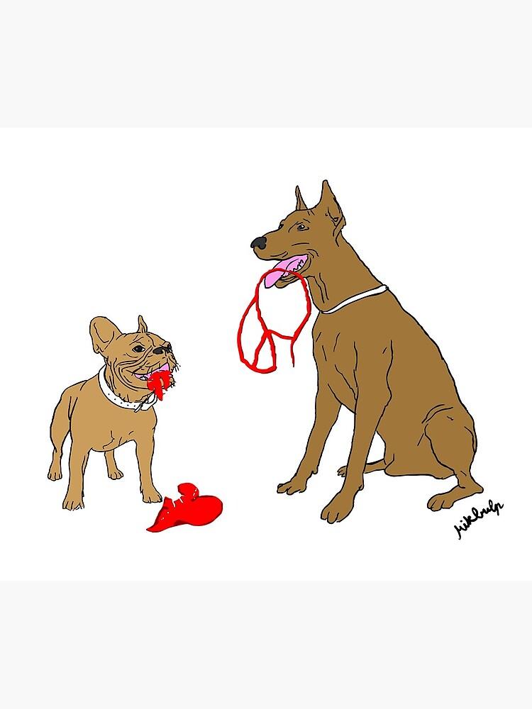 love & peace & dogs by Mikbulp