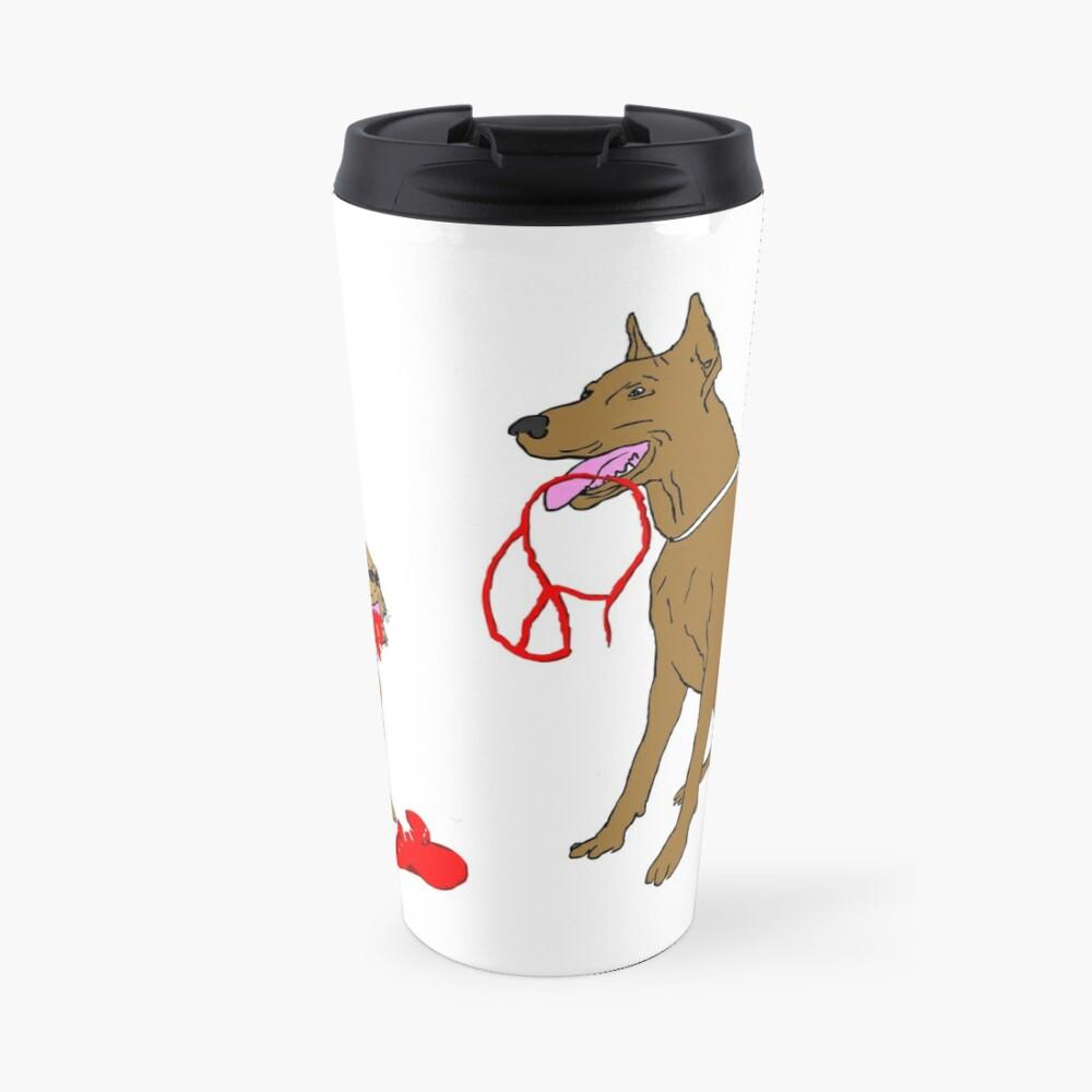 love & peace & dogs Travel Mug