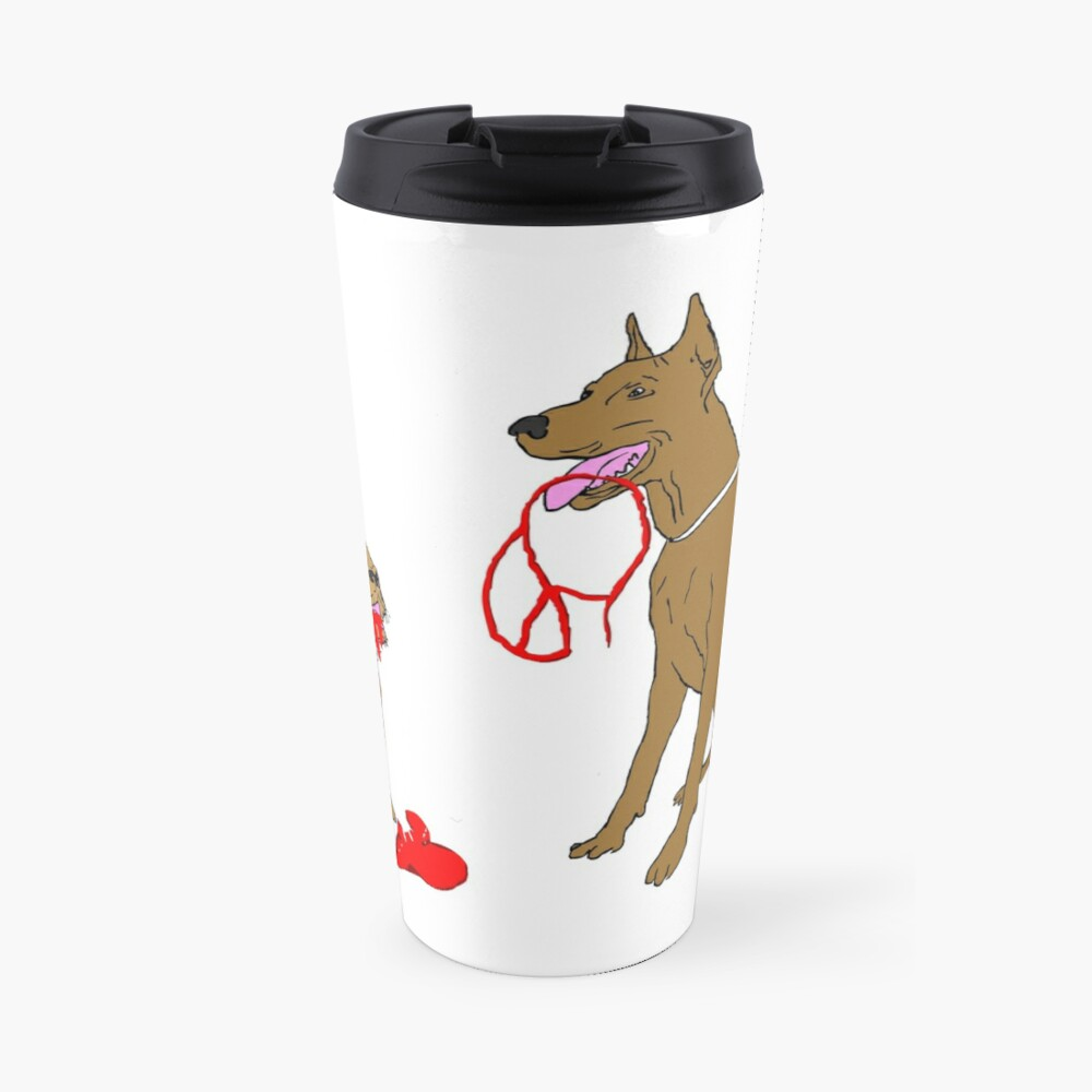 love & peace & dogs Travel Mug