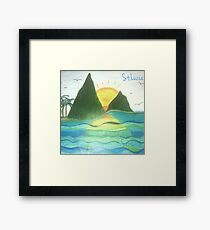 St. Lucia Pitons Framed Print