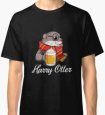 Harry Otter - Cute Wizard Otter With Butter Beer Classic T-Shirt