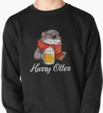 Harry Otter - Cute Wizard Otter With Butter Beer Pullover