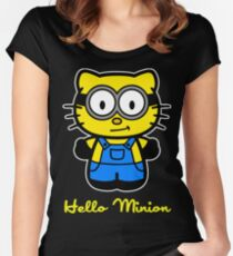 Hello Minion Women's Fitted Scoop T-Shirt