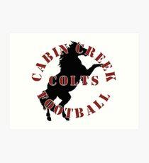 Cabin Creek Colts Football Art Print