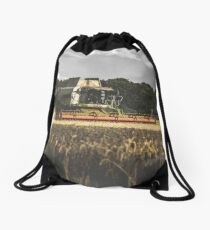 Claas Combine at Harvest Drawstring Bag