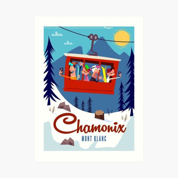 Chamonix Mont Blanc Cable Car poster Art Print