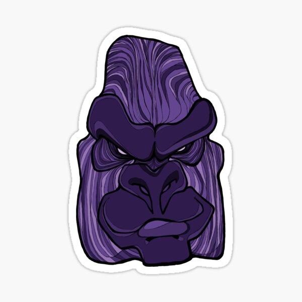 Gorilla - Ultra Violet Purple Sticker