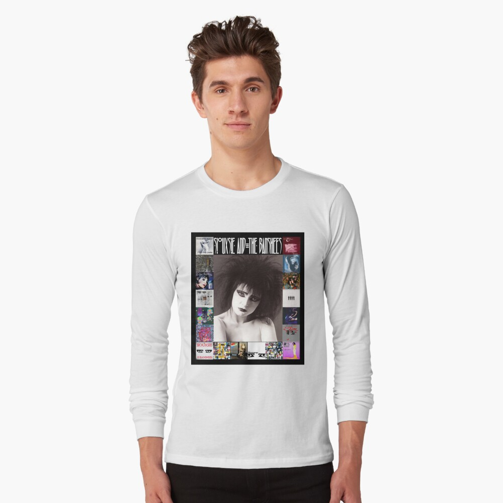 Siouxsie and the Banshees - Siouxsie Sioux framed in Album Covers 2 Long Sleeve T-Shirt