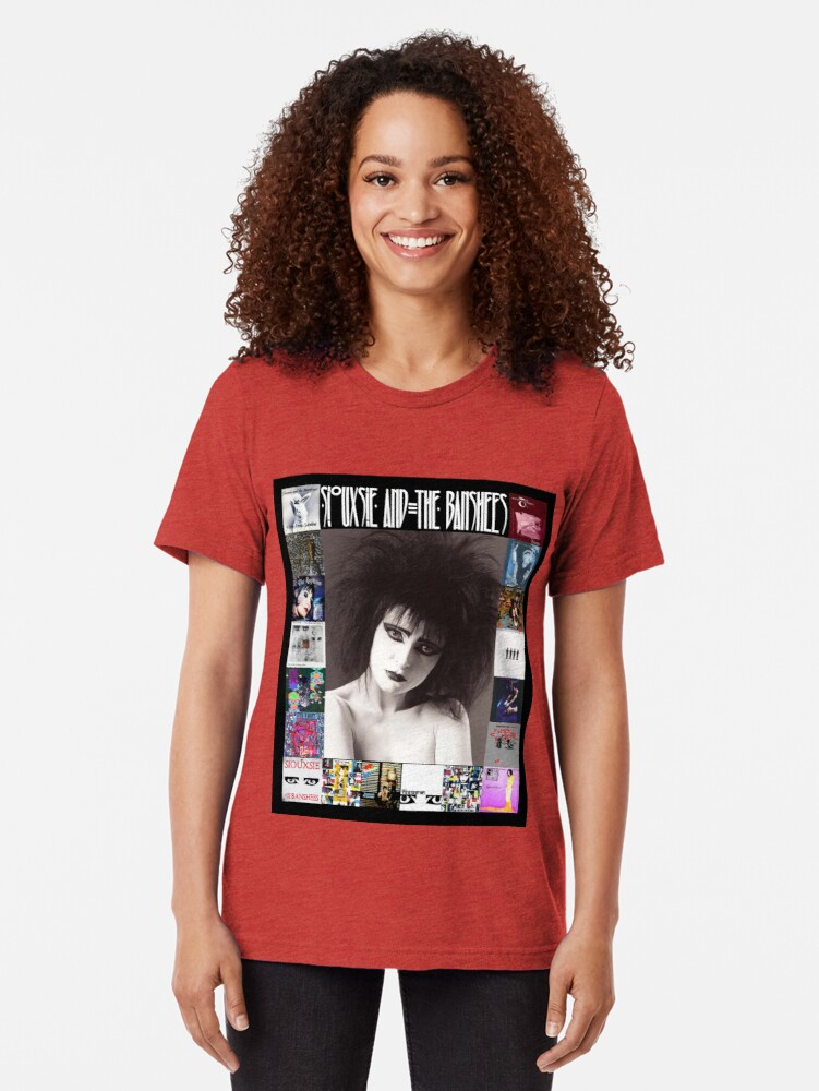 Alternate view of Siouxsie and the Banshees - Siouxsie Sioux framed in Album Covers 2 Tri-blend T-Shirt