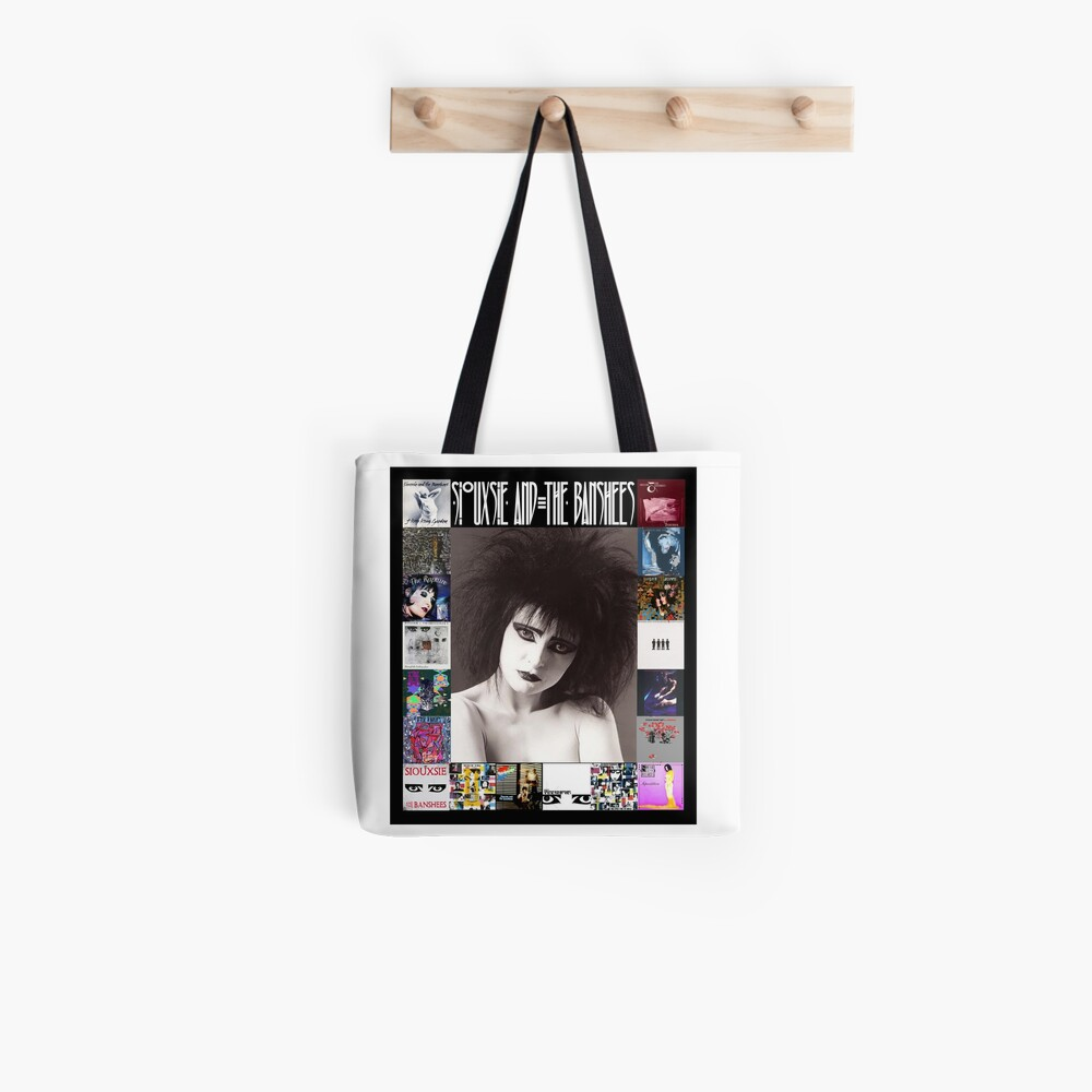 Siouxsie and the Banshees - Siouxsie Sioux framed in Album Covers 2 Tote Bag