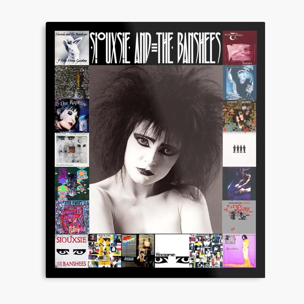 Siouxsie and the Banshees - Siouxsie Sioux framed in Album Covers 2 Metal Print