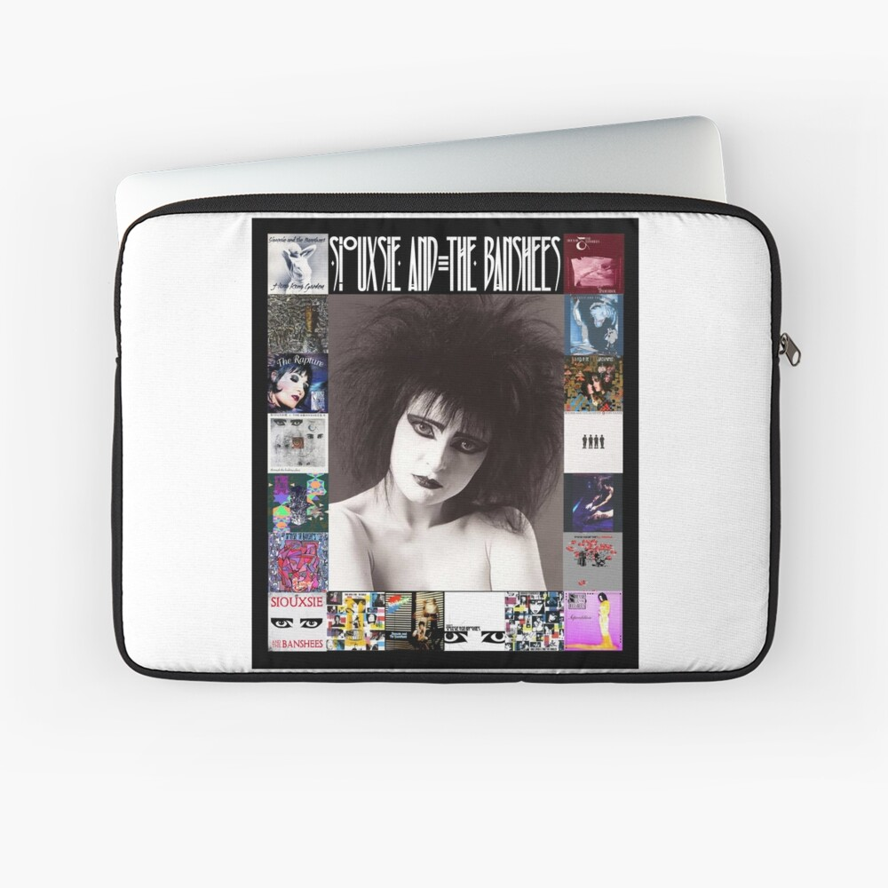 Siouxsie and the Banshees - Siouxsie Sioux framed in Album Covers 2 Laptop Sleeve