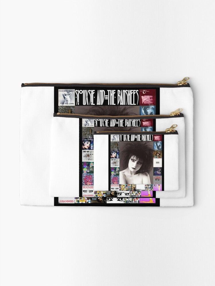 Alternate view of Siouxsie and the Banshees - Siouxsie Sioux framed in Album Covers 2 Zipper Pouch