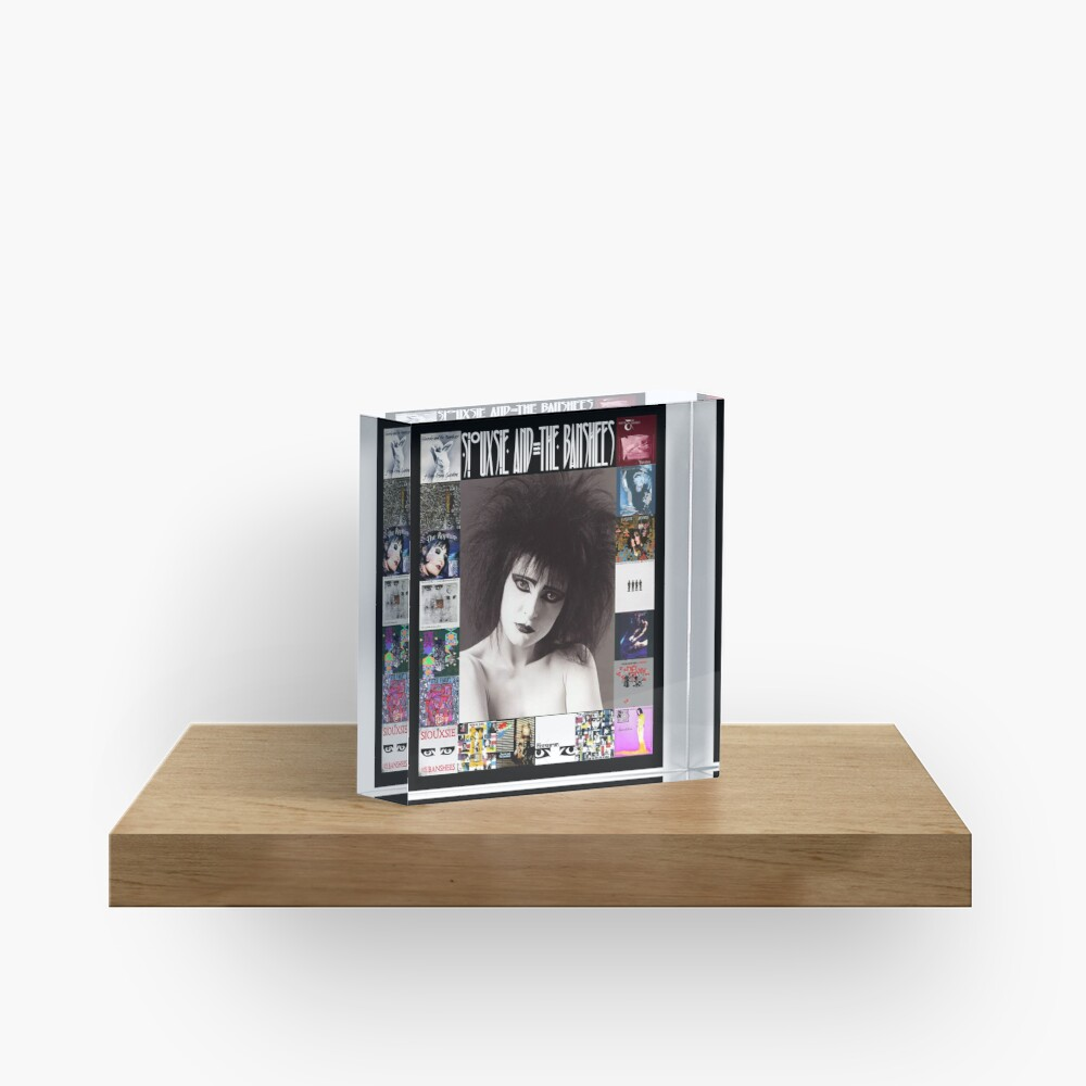 Siouxsie and the Banshees - Siouxsie Sioux framed in Album Covers 2 Acrylic Block