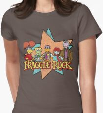 Fraggle Rock Fraggles Vintage Distressed 80s Faded Women's Fitted T-Shirt