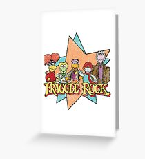Fraggle Rock Fraggles Vintage Distressed 80s Faded Greeting Card
