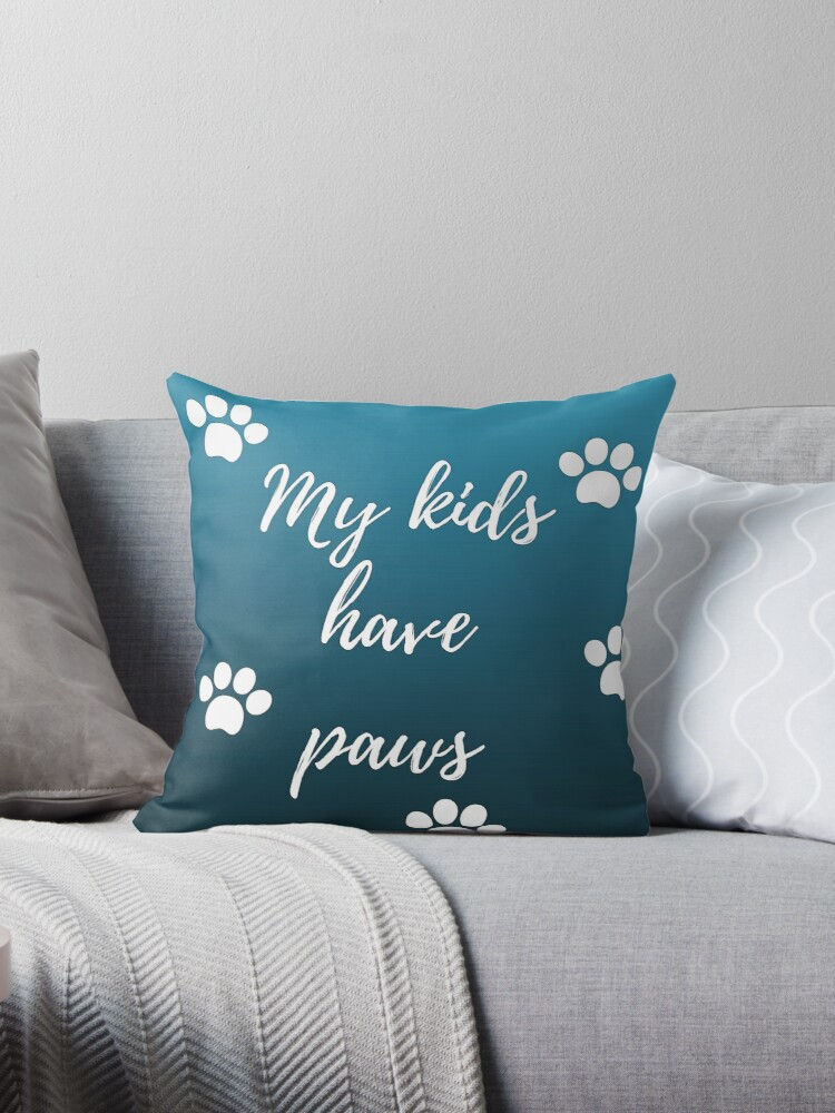 My kids have paws (navy) by Kamira Gayle