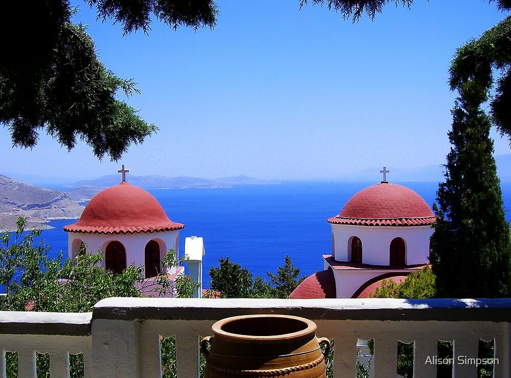 The Monastary on the Aegean by Alison Simpson