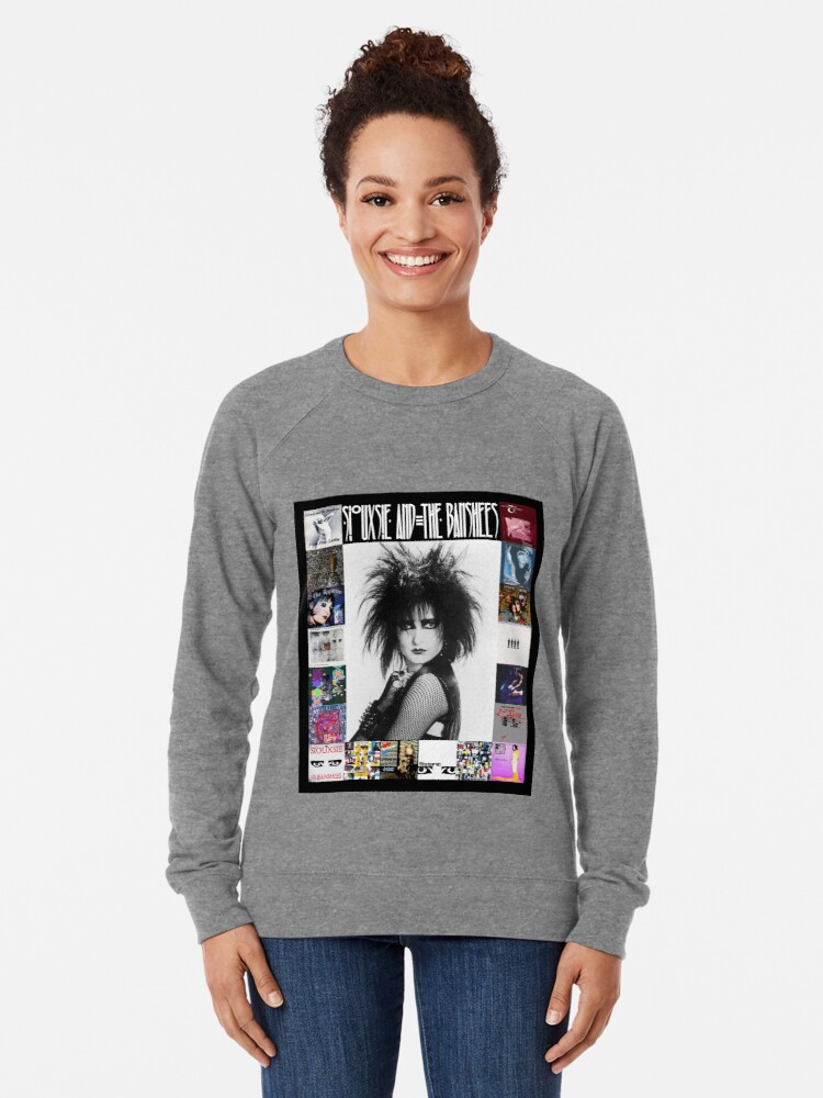 Alternate view of Siouxsie and the Banshees - Siouxsie Sioux framed in Album Covers 3 Lightweight Sweatshirt