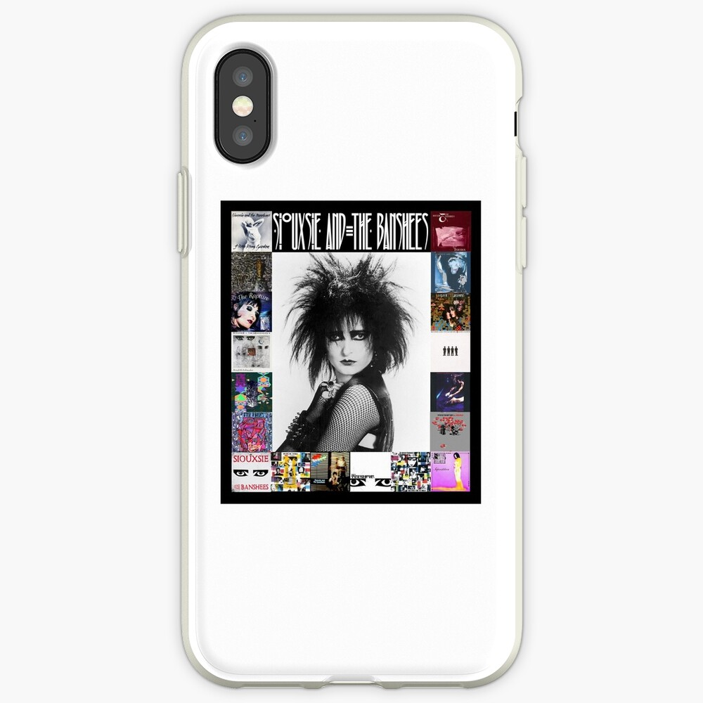 Siouxsie and the Banshees - Siouxsie Sioux framed in Album Covers 3 iPhone Case & Cover