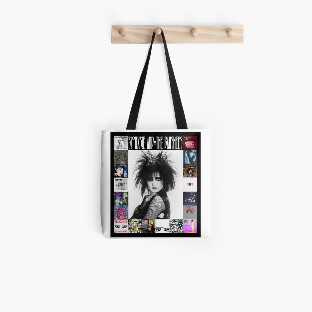 Siouxsie and the Banshees - Siouxsie Sioux framed in Album Covers 3 Tote Bag