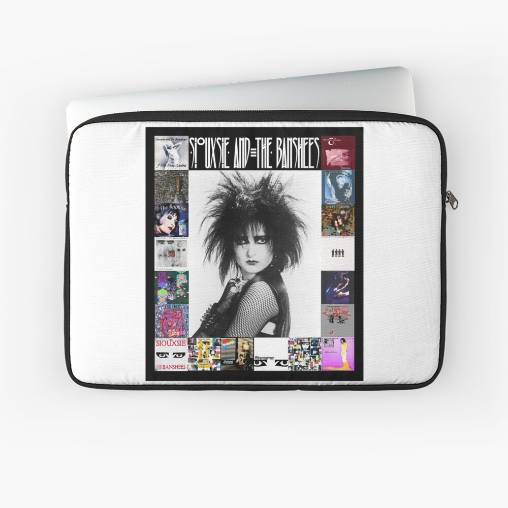 Siouxsie and the Banshees - Siouxsie Sioux framed in Album Covers 3 Laptop Sleeve