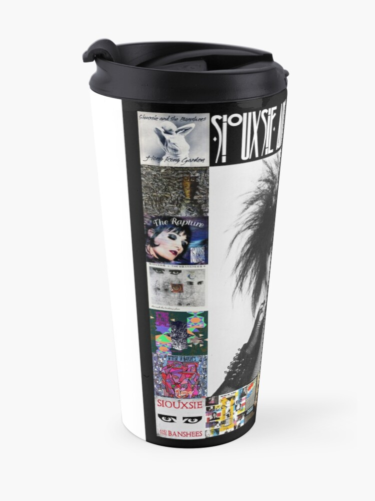 Alternate view of Siouxsie and the Banshees - Siouxsie Sioux framed in Album Covers 3 Travel Mug