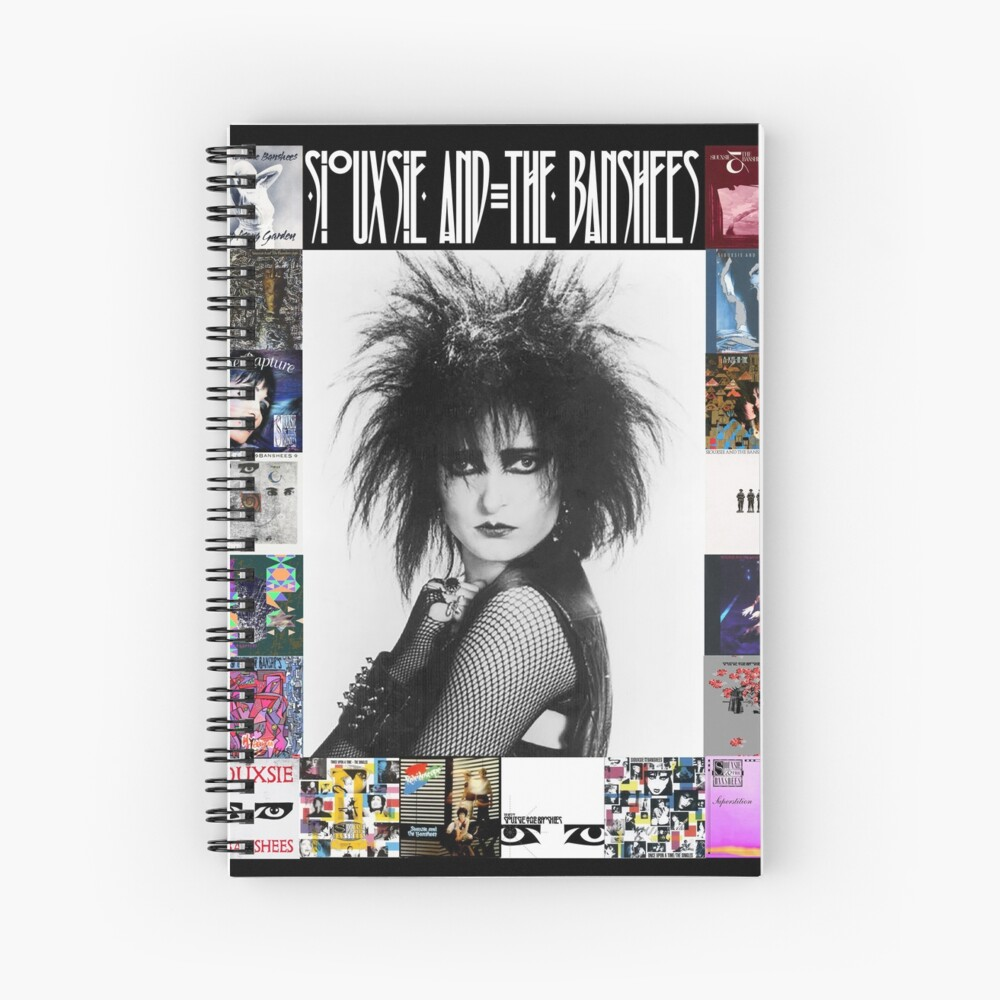 Siouxsie and the Banshees - Siouxsie Sioux framed in Album Covers 3 Spiral Notebook