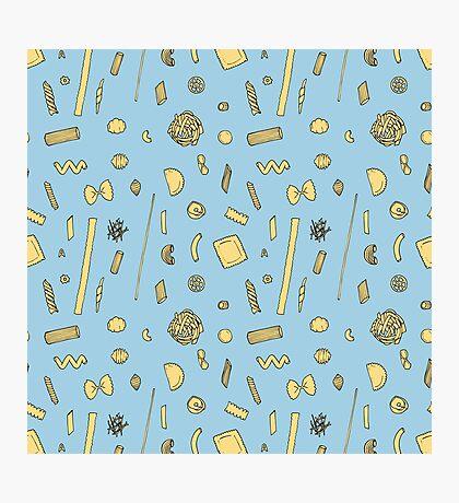Pasta pattern blue Impression photo