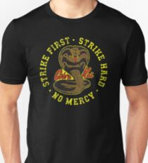 Cobra Kai - Strike First - Strike Hard - No Mercy - HD Distressed Variant 2 Unisex T-Shirt