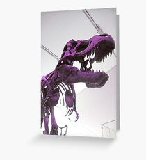 Purple Dinosaur Greeting Card