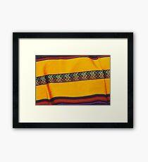 Native Blanket Framed Print