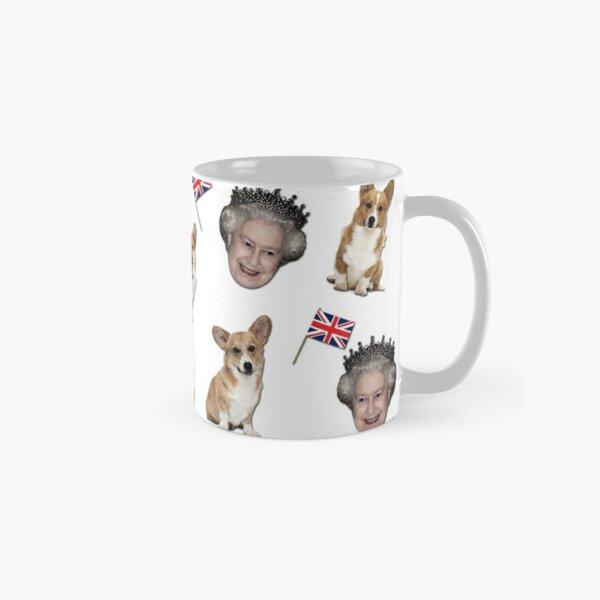 Queen Elizabeth and corgis pattern Classic Mug