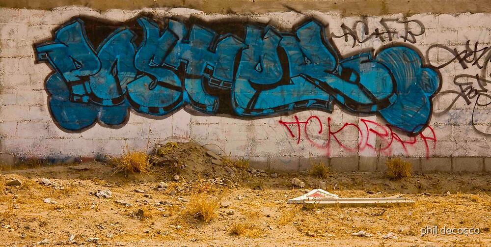 blue graffitti by phil decocco