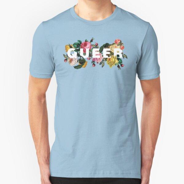 Queer (Antique Roses) Slim Fit T-Shirt