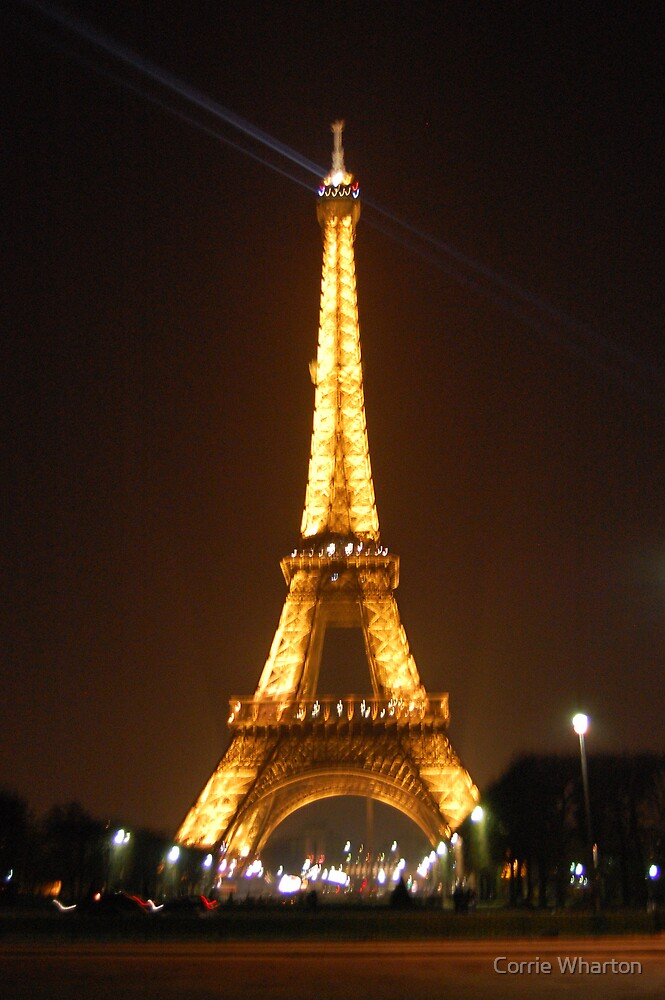 Eiffel Tower- Night by Corrie Wharton