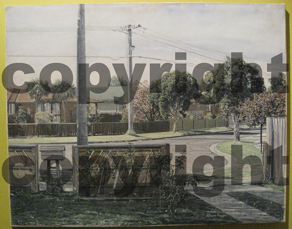 Painting of outside my house (Melbourne)  by AlbertPayet