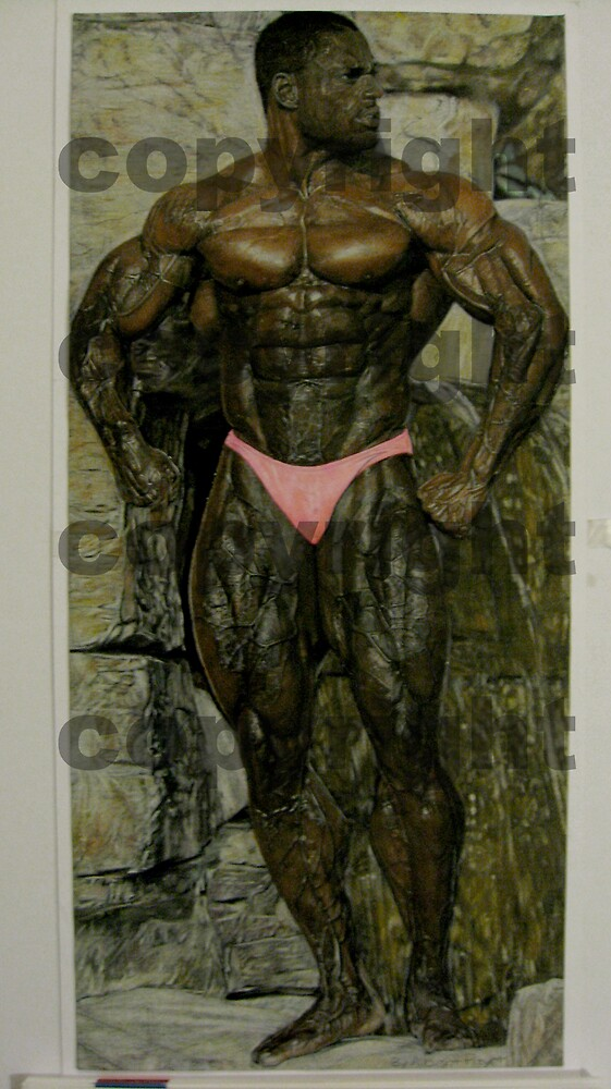 Drawing of Pro bodybuilder Vince Taylor  by AlbertPayet