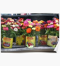 Flatbed Flowers Poster