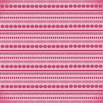 Pink Flower Diamond Pattern by Delight4Delife