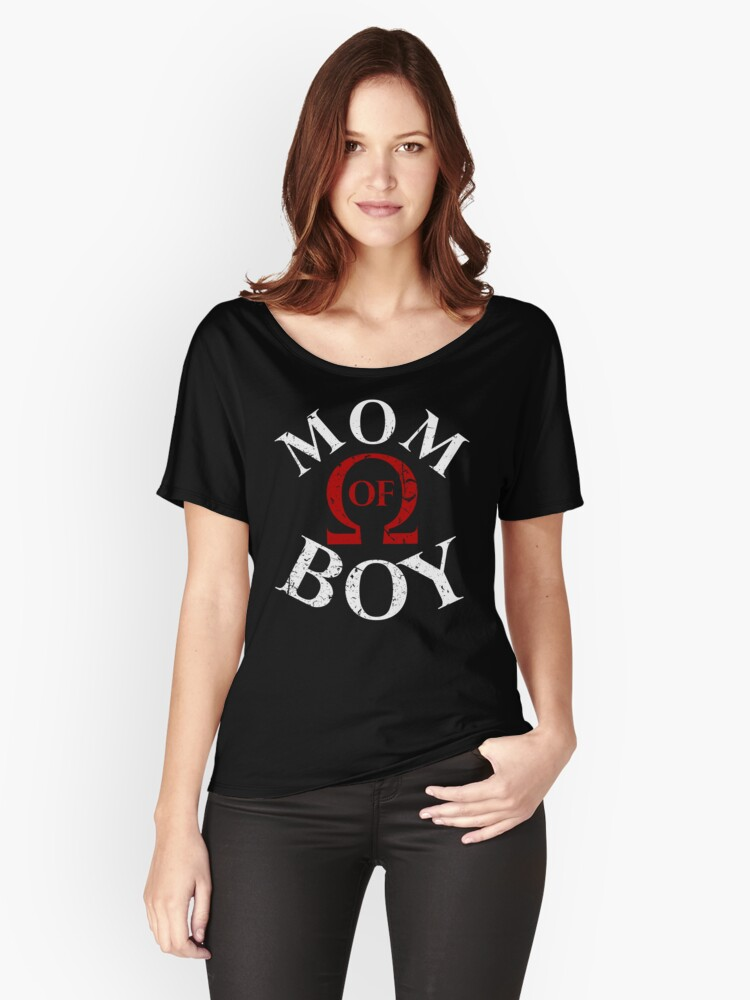 'Mom of Boy Gamer Mom Mothers Day Video Gaming T-Shirt' Relaxed Fit T-Shirt  by shoptshirtswag