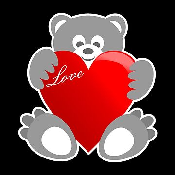 Bear Teddy love heart by MrProDesign