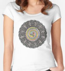 Celtic Knotwork Spiral Women's Fitted Scoop T-Shirt