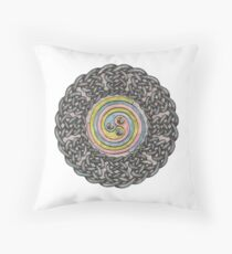 Celtic Knotwork Spiral Throw Pillow